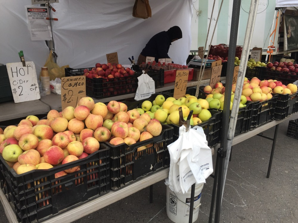 greenmarket union square apples