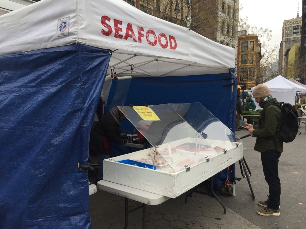greenmarket union square seafood